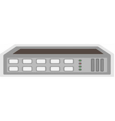 Switch hub on white background vector
