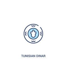 Tunisian dinar concept 2 colored icon simple line vector