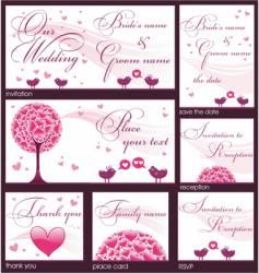 Wedding reception card vector