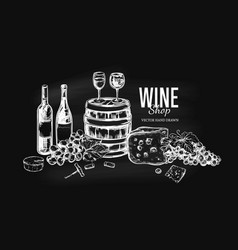 wine shop concept vector image