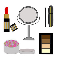 womens beauty consists vector image