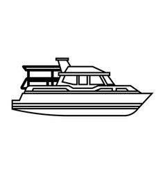 Yacht ship isolated icon vector