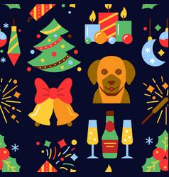 year symbol seamless pattern vector image