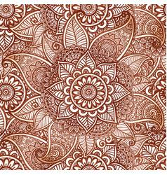 Indian mehndi henna tattoo style seamless vector image vector image