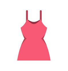 little pink dress icon flat style vector image