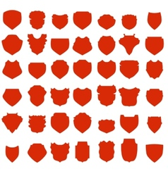 Red shields vector