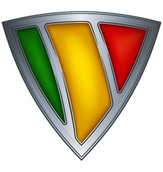 steel shield with flag mali vector image vector image