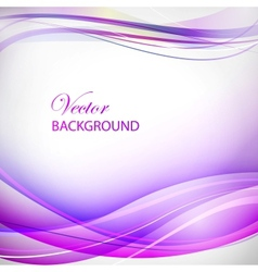 Colorful violet wave vector image