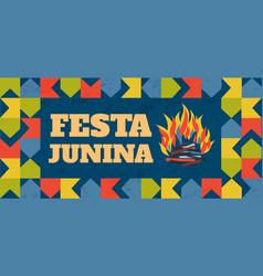 festa junina traditional brazil june vector image vector image