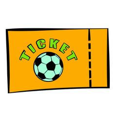 football ticket icon icon cartoon vector image vector image