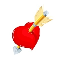 Heart and arrow Symbol love vector image