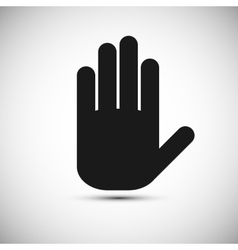 Icon black hand on a white background vector image
