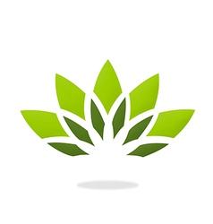 lotus flower decorative logo vector image