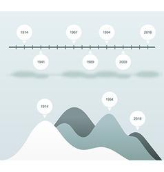 Set infographics status bar Blue statistics charts vector image vector image