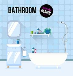 Bathroom interior design vector image