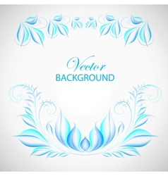 Colorful blue leaf vector image vector image