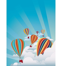Colorful hot air balloons2 vector image vector image