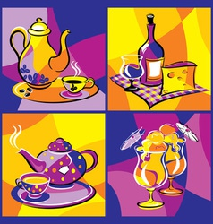 drink beverage bright vector image