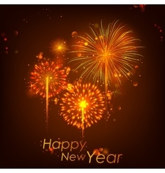 Happy new year celebration abstract starburst vector