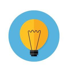 Idea Lamp Flat Circle Icon vector image vector image