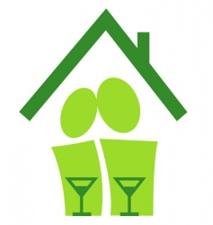 pictogram housewarming vector image vector image