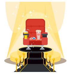 seats on black carpet vector image vector image
