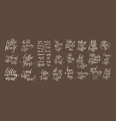 set of hand written lettering inscription design vector image vector image