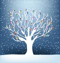 tree noel vector image vector image