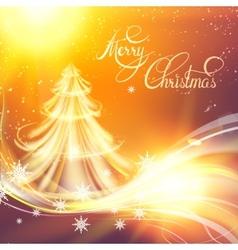 Christmas fir-tree vector image vector image