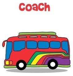 Coach bus cartoon art vector