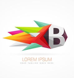 colorful abstract logo with letter B vector image