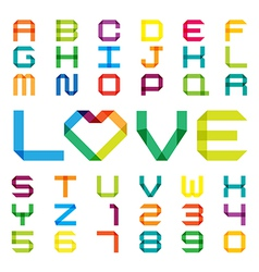 Colorful paper alphabet vector image