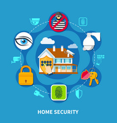 home security concept vector image vector image