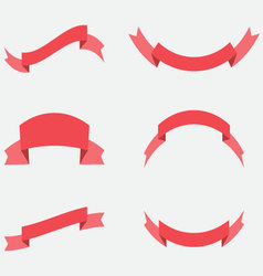 Ribbon decoration red color vector image