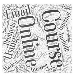 Using online courses for internet marketing word vector