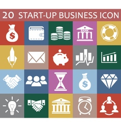 20 startup business icon vector