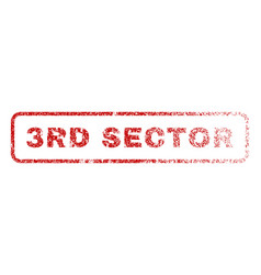 3rd sector rubber stamp vector image