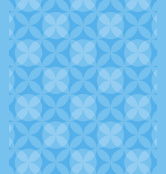 abstract circles blue pattern background vector image
