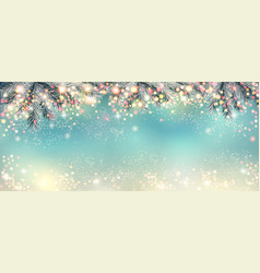 Abstract holiday christmas light panorama vector