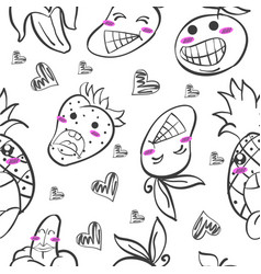 Art of fruit hand draw doodles vector