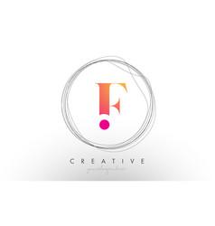Artistic f letter logo design with creative vector