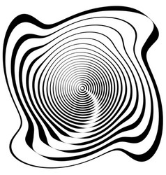 Asymmetric spiral shape isolated on white vector