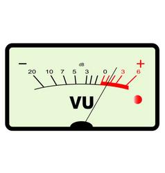 Audio meter vector