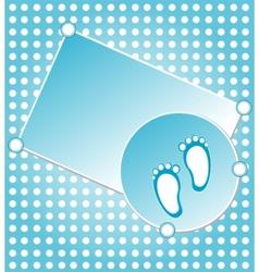 baby boy announcement vector image vector image