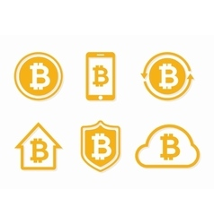 Bitcoin logo Bitcoin icon bitcoin vector