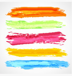 Brush strokes template vector