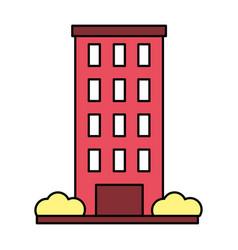 Building facade exterior on white background vector