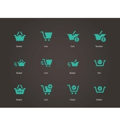 Checkout icons vector