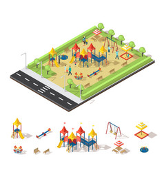Child playground isometric concept vector