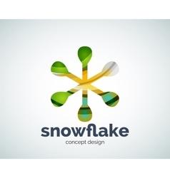 Christmas snowflake logo template vector